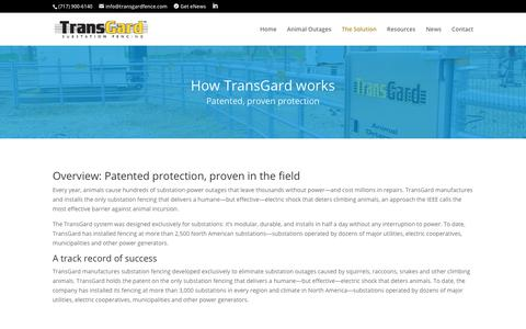 Screenshot of FAQ Page transgardfence.com - The Solution | TransGard - captured Dec. 13, 2018