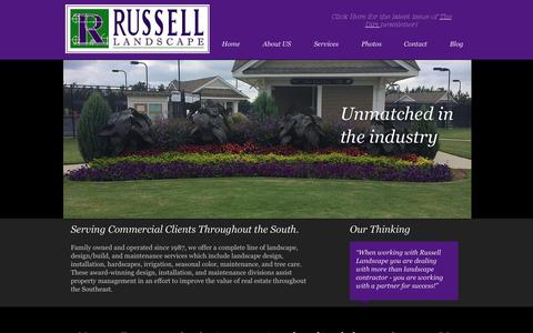 Screenshot of About Page russelllandscapegroup.com - Russell Landscape - captured Aug. 16, 2015