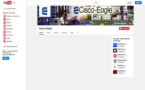 Screenshot of YouTube Page youtube.com - Cisco-Eagle  - YouTube - captured Oct. 22, 2014