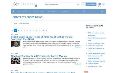 Screenshot of Press Page contactlenses.fr - Contact Lenses News :: Buy Cheap Contact lenses in France - captured Oct. 29, 2018