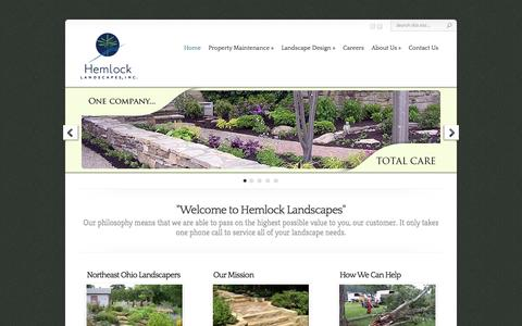 Screenshot of Home Page Site Map Page hemlocklandscapes.com - Landscaping Company - Northeast Ohio   Landscaping Ideas - Hemlock - captured Oct. 2, 2014