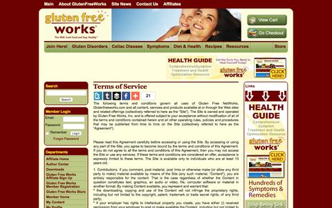 Screenshot of Terms Page glutenfreeworks.com - Terms of Service «  Gluten Free Works - captured Jan. 31, 2016