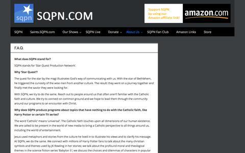 Screenshot of FAQ Page sqpn.com - F.A.Q. - SQPN.com - captured Sept. 23, 2014