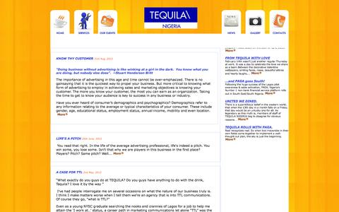 Screenshot of Press Page tequilanigeria.com - News : Sales Activation | Product Launch | Telemarketing | Tequila Nigeria - captured Jan. 11, 2016