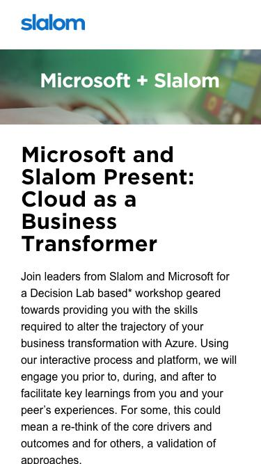 Microsoft Business Cloud Event Toronto Workshop