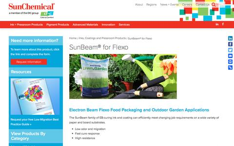 SunBeam® for Flexo | Sun Chemical
