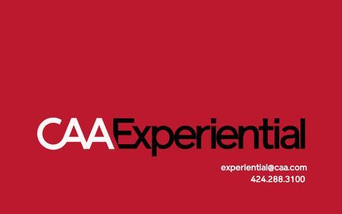 Screenshot of caa.com - CAA Experiential - captured May 13, 2017
