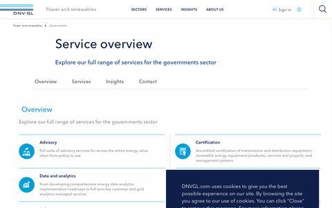 Screenshot of Services Page dnvgl.com - Services - Governments - DNV GL - captured Dec. 7, 2019