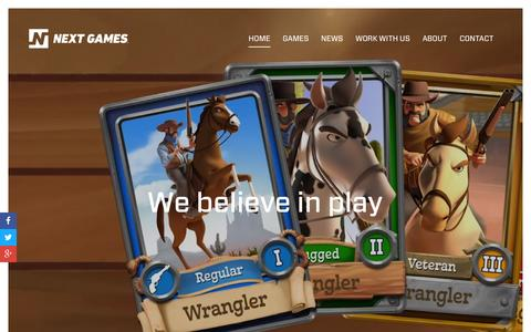 Screenshot of Home Page nextgames.com - Next Games - captured Dec. 4, 2015