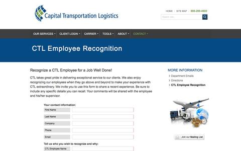 CTL Employee Recognition | Capital Transportation Logistics