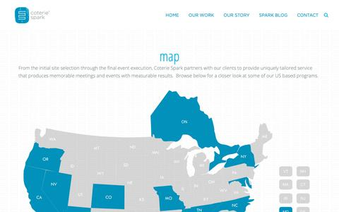 Screenshot of Maps & Directions Page coteriespark.com - MAP   Coterie Spark - captured Nov. 5, 2018