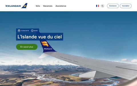 Screenshot of Blog icelandair.com - Actualités et annonces | Icelandair - captured Oct. 22, 2018