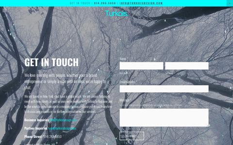 Screenshot of Contact Page turkoisdesign.com - Contact — Turkois. - captured May 29, 2019