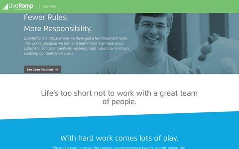 Screenshot of Jobs Page liveramp.com - Careers - LiveRamp - captured Nov. 22, 2016