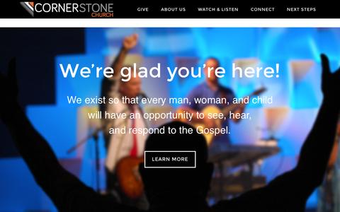 Screenshot of Home Page mycornerstone.me - Cornerstone Church – An ethnically reflective church with multiple campuses in South Carolina. Helping people find, follow, and be like Jesus. - captured Jan. 23, 2015