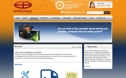 Screenshot of Services Page hypertechcomputer.com - Services | HyperTech Computers, Inc.HyperTech Computers, Inc. - captured Oct. 3, 2014