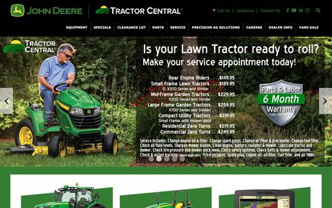 Screenshot of Home Page tractorcentral.com - Tractor Central - Home - captured May 29, 2019