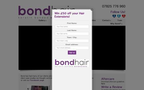 Screenshot of Case Studies Page bondhair.com - Case Studies - Bond Hair Extensions - captured Nov. 23, 2016