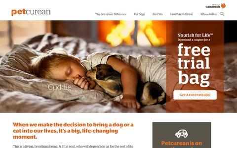 Screenshot of Trial Page petcurean.com - Nourish for Life | Petcurean - captured Dec. 8, 2015