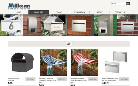 Screenshot of Products Page milkcan.com.au - Outdoor Products For Sale Online | Milkcan - captured July 12, 2017