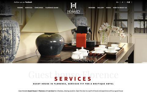 Screenshot of Services Page casahoward.com - Guest house Florence services - Guest house Florence - captured Nov. 25, 2017