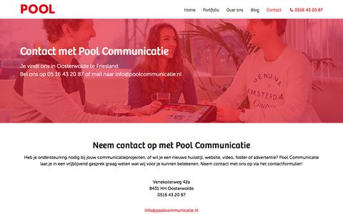 Screenshot of Contact Page poolcommunicatie.nl - Contact - captured Dec. 3, 2016