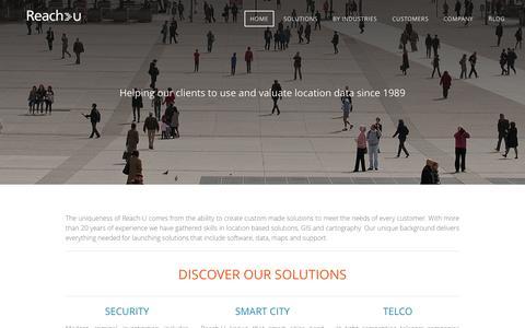 Screenshot of Home Page reach-u.com - Reach-U - HOME - captured Feb. 24, 2016