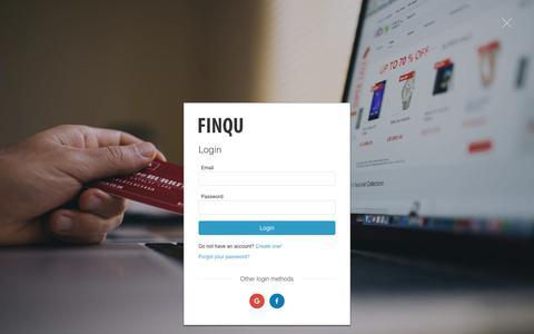 Screenshot of Login Page finqu.com - Finqu Login - captured July 5, 2018