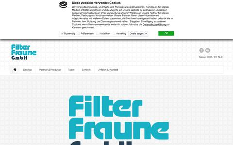 Screenshot of Home Page filter-fraune.de - Filter Fraune GmbH in Lingen - Startseite - captured June 9, 2018