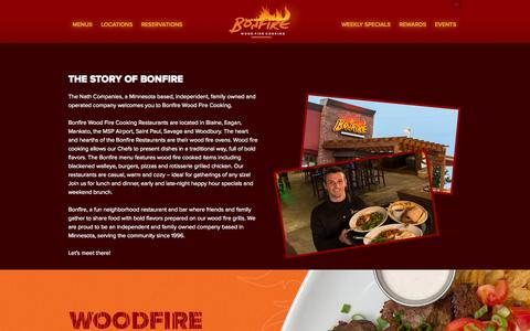 Screenshot of About Page bonfirewoodfirecooking.com - About - Bonfire Wood Fire CookingBonfire Wood Fire Cooking - captured Oct. 5, 2014