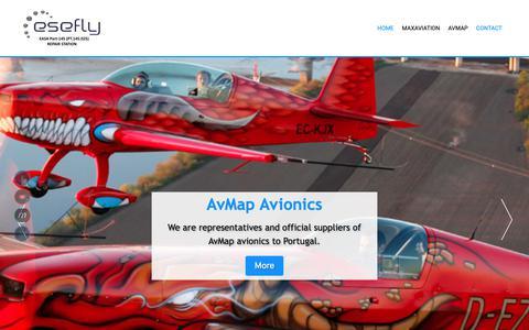 Screenshot of Home Page esefly.com - Esefly - captured Sept. 28, 2018