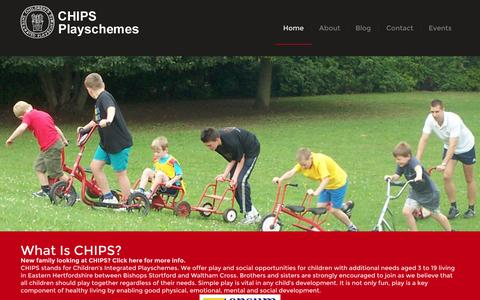 Screenshot of Home Page chipsplay.org - CHIPS Playschemes - Fun for youngsters, support for families - captured Jan. 23, 2015