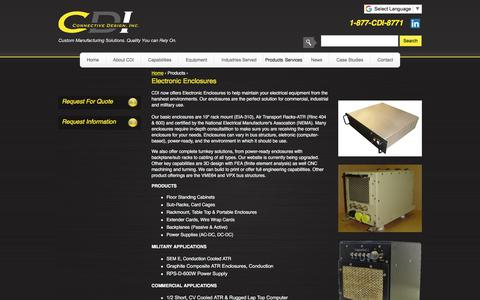 Screenshot of Jobs Page connectivedesign.com - Custom Electronic Enclosures   CDI - captured Sept. 25, 2018