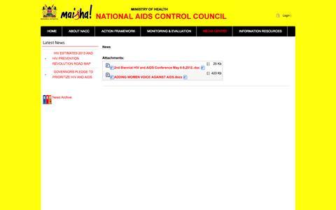 Screenshot of Press Page nacc.or.ke - News - captured Nov. 1, 2014