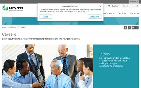Screenshot of Jobs Page hexagonmi.com - Careers | Hexagon Manufacturing Intelligence - captured June 2, 2018