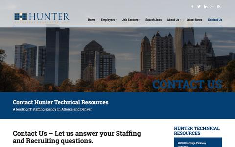 Screenshot of Contact Page htrjobs.com - Careers in Information Technology | IT Staffing Agencies - captured Nov. 11, 2015