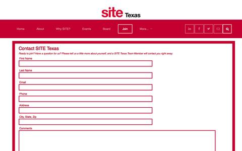 Screenshot of Signup Page sitetexas.org - Join - captured Oct. 26, 2014