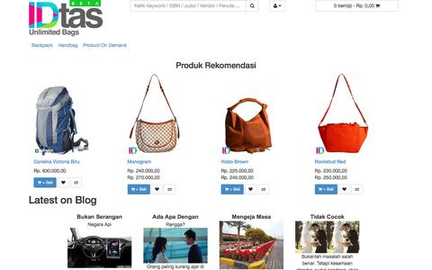 Screenshot of idtas.com - IDtas.com - Toko Online Tas Indonesia - captured June 15, 2016
