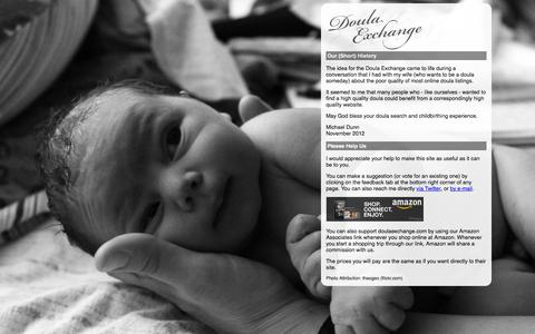 Screenshot of About Page doulaexchange.com - About Us   The Doula Exchange - captured Oct. 7, 2014