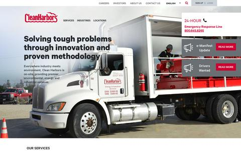 Screenshot of Home Page cleanharbors.com - Environmental, Energy & Industrial Services   Clean Harbors - captured March 23, 2019
