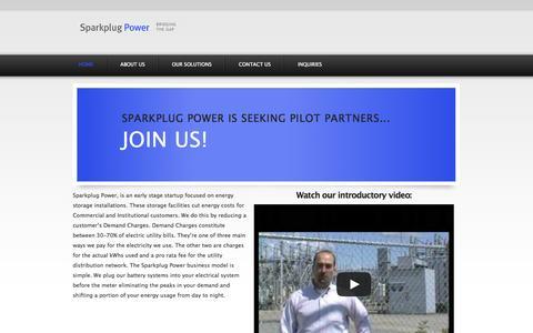 Screenshot of Home Page sparkplugpower.com - Spark Plug Power - captured Oct. 9, 2014