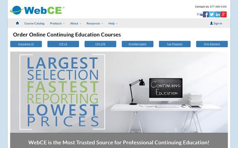 Insurance, CFP & CPA Continuing Education | CE - CPE Requirements | WebCE