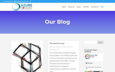 Screenshot of Blog azuremarcom.com - Blogs   Azure 360 - captured Oct. 4, 2018