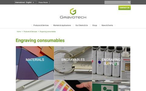 Screenshot of Services Page gravotech.com - Laser Engraving Consumables: discover our catalogue | Gravotech - captured Nov. 13, 2016