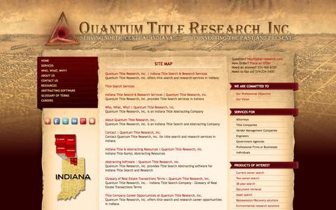 Screenshot of Site Map Page qt-research.com - Site Map | Quantum Title Research, Inc. - captured Oct. 3, 2014