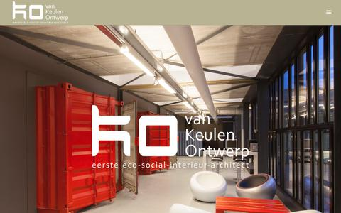 Screenshot of Home Page hvk-ontwerp.eu - Van Keulen Ontwerp, eerste eco-social interieur architect - captured Nov. 18, 2018