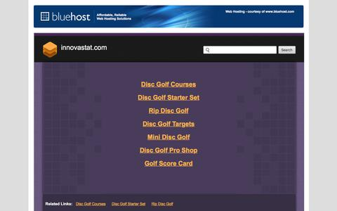 Screenshot of Home Page innovastat.com - Welcome innovastat.com - BlueHost.com - captured Sept. 16, 2018