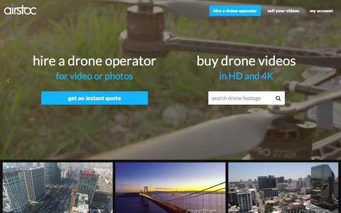 Screenshot of Home Page airstoc.com - Aerial Stock Footage - Airstoc - captured Dec. 21, 2015