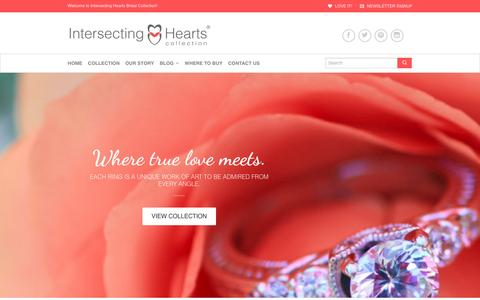 Screenshot of Home Page intersectinghearts.com - Home - Intersecting Hearts® - captured Jan. 9, 2016
