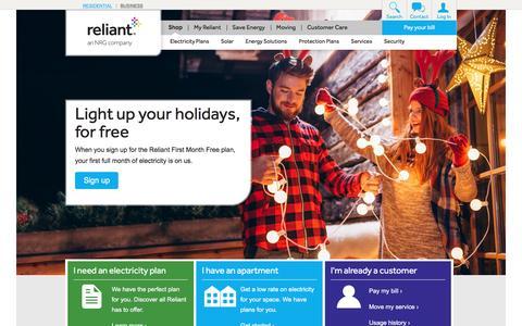 Shop | Reliant Energy | Texas Electricity